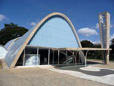 Igreja São Francisco de Assis, localizada no bairro da Pampulha, em Belo Horizonte, Minas Gerais, Brasil. Obra do arquiteto brasileiro Oscar Niemeyer, de 1943,