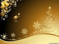 3D Christmas Wallpaper | Free Wallpapers: Golden Christmas wallpaper