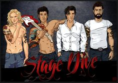 Kylie Scott's Stage Dive series Art by Booknerdfangirl.