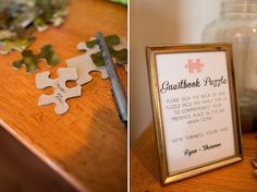 a guestbook puzzle - great idea!