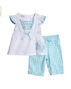 NWT Infant Toddler Girls 3 piece Summer Pajamas Short Tank Shirt Soft Dainty