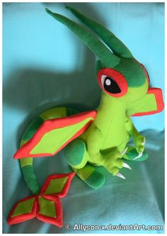 Flygon Plush by Allyson-x.deviantart.com on @deviantART - follow the link for even more awesome plushies!