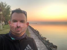 Balaton forever. ❤️ Masks for now. . . . #evercoverfacemask #facemascover #lakebalaton #facemask #sunset #weekendvibes #summeriscoming #cycling #summer #balaton #visithungary Face Mas, Helmet Covers, Sports Helmet, Roller Derby, Cycling, Masks, Sunset, Instagram, Biking