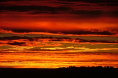 """Natural cloudscape photo taken in Billings, MT. I call this """"Deep Red Variation"""""""