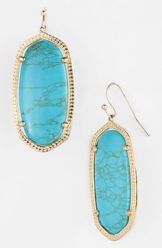 Gorgeous turquoise drops by Kendra Scott
