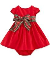Possible Christmas dress -- Ralph Lauren Baby Girls' Cotton Sateen Fit-and-Flare Dress