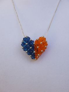 University of Florida Swarovski Crystal Heart