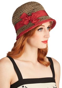 Porch Swing on By Hat. Wear this woven cloche hat, whip up mint juleps, and party on the porch!  #modcloth