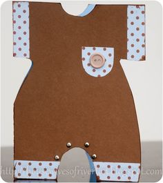 baby card - love the brads as snaps