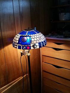 Star Wars R2D2 Tiffany style lamp shade by MasterGlasster on Etsy