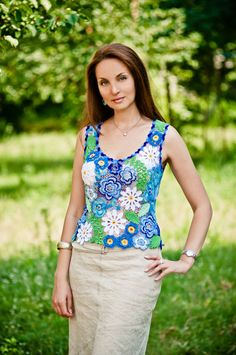 Croshet blouse by Lumirelle on Etsy, $380.00