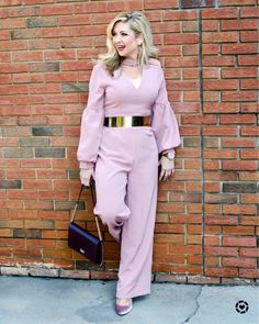 Soo...I May Have A New Obsession With Jumpsuits💞  Wore This Beauty at NYFW paired with this Fabulous Gold Belt by Manna Dabholkar (which was included in our gift bag at the Cat & Kaehler Launch Party in June of this year!!)   🛍SALE!🛍   https://www.liketoknow.it/southernblondechic  📷: Amanda Lee Photography #charlotteblogger #ncblogger  #charlottefashion  #charlottenc #southernblogger #southernstyle #50plusandfabulous #fashionover50   #fabover50 #fashionover40