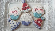 Happy Birthday cookie set by South Avenue Sweets