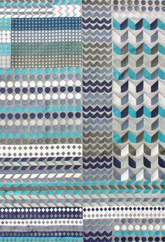 Como Fabric. Tribal Collection. Cotton and Polyester. Margo Selby. Textile Design