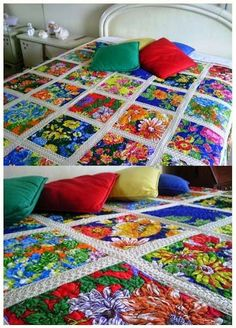 Znalezione obrazy dla zapytania chita no brasil Patch Quilt, Quilt Blocks, Draps Design, Quilting Projects, Sewing Projects, Crochet Quilt, Bed Covers, Quilt Patterns, Diy And Crafts