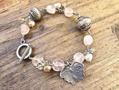 Sterling Silver Bracelet, Earthy Jewelry, Hill Tribe Butterfly Bracelet, Boho Chic Bracelet, Bohemian Bracelet, Animal Rescue Jewelry