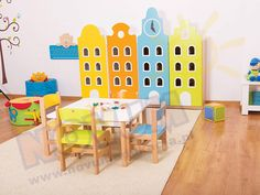 Kamieniczki - drzwi żółte PREMIUM Kids Rugs, Home Decor, Decoration Home, Kid Friendly Rugs, Room Decor, Interior Decorating