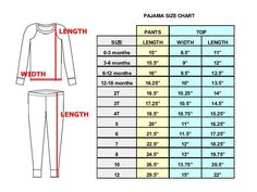 Baby Size Chart, Size Chart For Kids, Charts For Kids, Baby Clothes Sizes, Baby Clothes Patterns, Sewing Patterns, Baby Boutique Clothing, Kids Clothing, Track Pants Mens