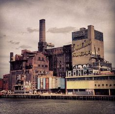 Abandoned Domino Sugar Factory, Kent Ave., Brooklyn, New York.