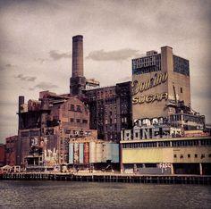 Abandoned Domino Sugar Factory, Kent Ave., Brooklyn, New York.