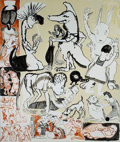 Aida, 1983. Nesta obra dá-se a conhecer o mundo das fábulas reais que caracteriza o imaginário da artista.