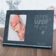 Engraved Slate Chalkboard Photo Frame - Bundle Of Joy | GettingPersonal.co.uk