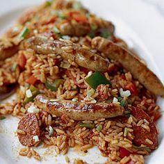 Easy Jambalaya with Chipolatas and Chorizo