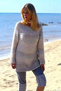DROPS sweater with round yoke in Paris and Cotton Viscose ~ DROPS Design