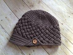 Ravelry: Diagonal Weave Beanie or Newsboy pattern by Crochet by Jennifer
