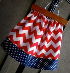 Girls 4th of July skirts.