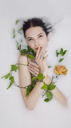 Our Love Be So S/S 2015 Erstwhile Campaign - Milk Bath - Engagement Rings - Flower Fashion Photoshoot