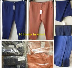 Job lot Lots NEW Tag Sealed French Designer Women Capri Trousers Wholesale 6 8