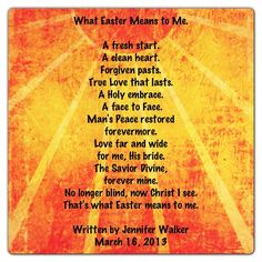"""""""What Easter Means to Me"""" by Jennifer Crawford Walker  // SmellingCoffee.com"""
