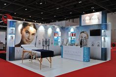 Modular Exhibition stand for Medical Beauty at the Professional Beauty Show 2015…