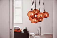 Mieszkać Pięknie: Jeszcze więcej miedzianych lamp/ Even more of copper lamps