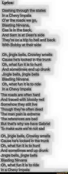 "Supernatural "" Jingle Bells"" Lyrics"