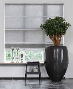 Love the vase Drapes And Blinds, Roman Blinds, Window Curtains, Roman Shades, Window Treatments, Ramen, Planter Pots, Sweet Home, Indoor