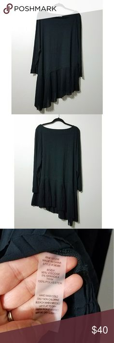 Soft Surroundings black Operetta tunic In excellent condition. No flaws. Worn gently. *PLEASE NOTE: stock picture shown last is for fit purposes only. * Soft Surroundings Tops Tunics