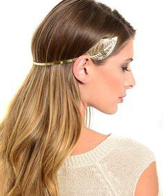 Golden Goddess Leaf Design Metal Fashion Headband Hair Accessory Costume Headwear