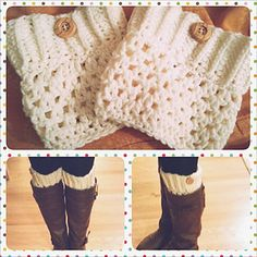 crochet boot cuff! Somebody should make these for me.