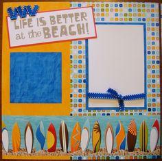beach scrapbooking layout ideas | beach themed scrapbook layouts - beach themed scrapbook layouts 12x12 ...