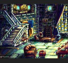 Ravenclaw common room rendition