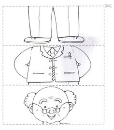Crafts,Actvities and Worksheets for Preschool,Toddler and Kindergarten.Free printables and activity pages for free.Lots of worksheets and coloring pages. Preschool Worksheets, Preschool Activities, Cutting Activities, Art For Kids, Crafts For Kids, Grandparents Day Crafts, Puzzle Crafts, Family Theme, My Themes