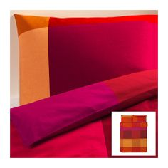 BRUNKRISSLA Duvet cover and pillowcase(s) - red, Full/Queen (Double/Queen) - IKEA