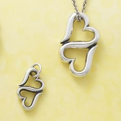 Heart to Heart charm and pendant #jamesavery