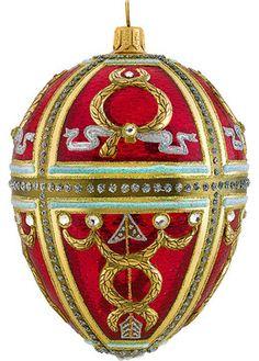 Glitterazzi Red Russian Egg Christmas Ornament - Christmas ...