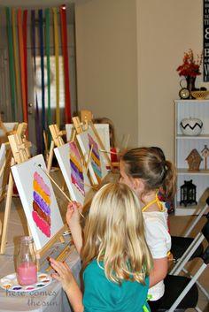 Throw an amazing Art Party! via herecomesthesunblog.net
