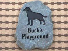 Buck's stone is going in the back yard