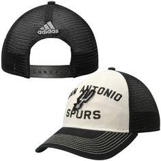 3e84e93263b13 Men s San Antonio Spurs adidas Black Team Nation Mesh Back Slouch  Adjustable Hat