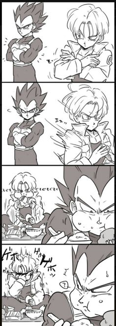I don't own ANY of this art. This is just a good quality Vegeta Bulma fanart! Please leave the art source so others can find the original artist! Dragon Ball Z, Awesome Anime, Anime Love, Milk Y Goku, Vegeta And Trunks, Goku Y Vegeta, Son Goku, Manga Dragon, Cartoon Dragon